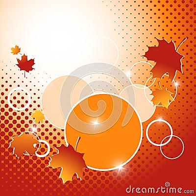Autumn vector backdrop. Eps10