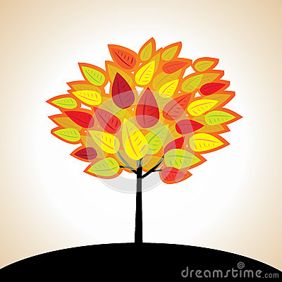 Autumn vector tree