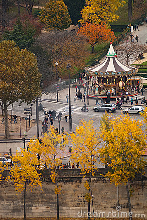 Autumn view of Paris