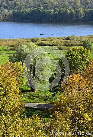 Autumn view of Viljandi Lake