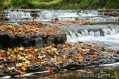 Autumn waterfall in Estonia