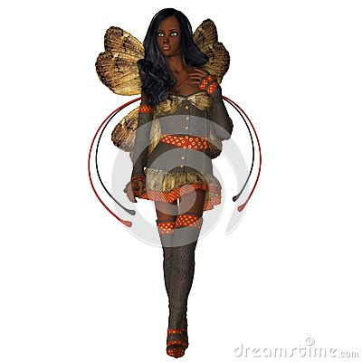 Autumn Wings African American Faerie