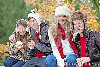 Autumn winter people