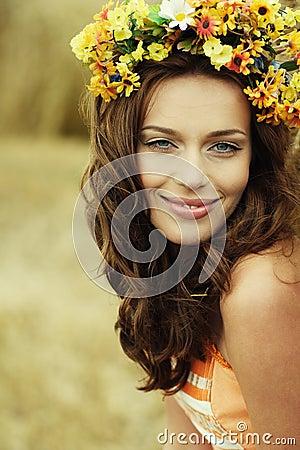 Free Autumn Woman Portrait Stock Photos - 9559713