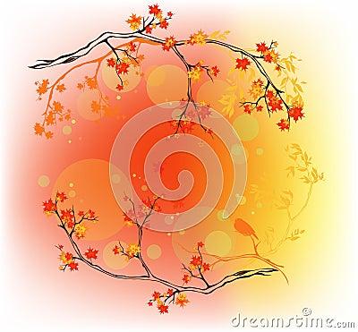 Autumn woods vector