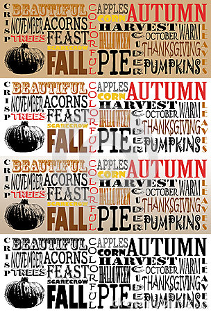 Autumn Word Art Collection-Facebook Timelines - Se