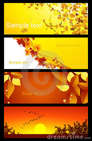 Autumnal background set