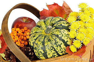 Autumnal Basket Royalty Free Stock Photography - Image: 11091937