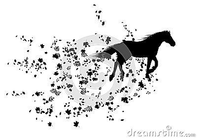 Autumnal horse