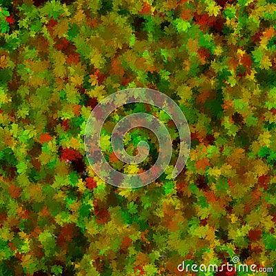 Autumnal impression about leaf litter.