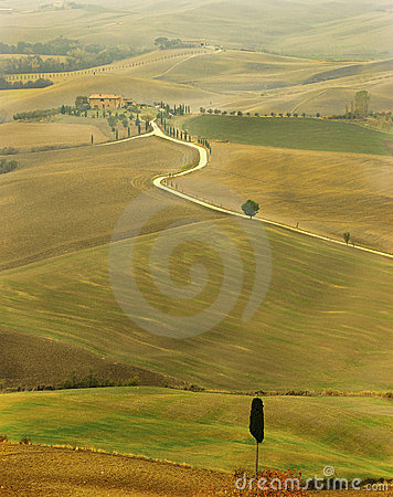 A autumnal landscape in Tuscany