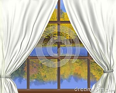 Autumnal throught Window,