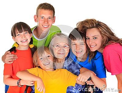 Avó e netos