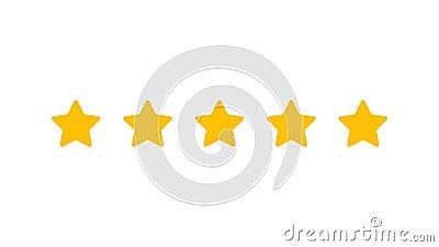 Avaliando cinco estrelas