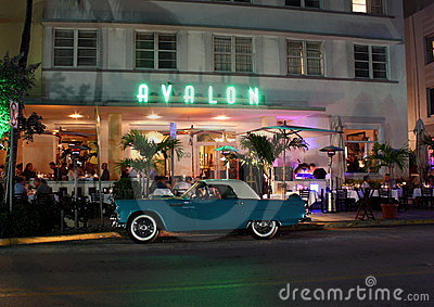Avalon Hotel at night Editorial Photography