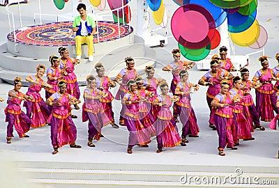 Avance del desfile del día nacional de Singapur Foto de archivo editorial