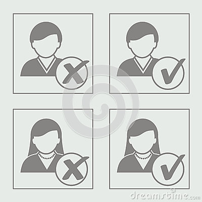 Avatar icons - add delete user, member