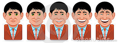 Avatar people icons (facial expressions:happiness)