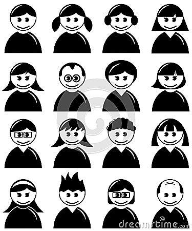 Avatar People Icons Set