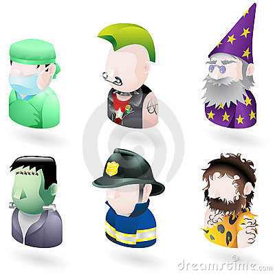 Avatar people internet icon set