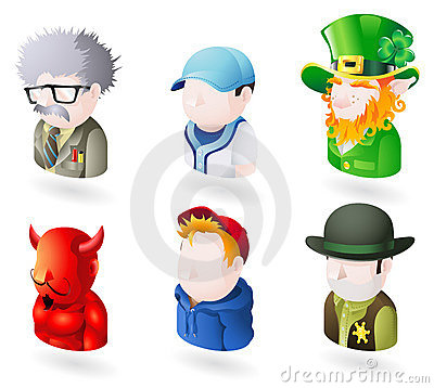 Free Avatar People Web Icon Set Royalty Free Stock Image - 10189016