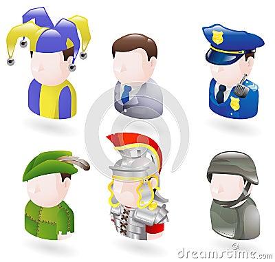 Free Avatar People Web Icon Set Royalty Free Stock Image - 10189036