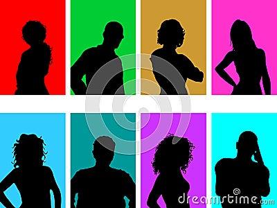 Avatar silhouettes