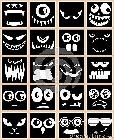 Free Avatars Black Stock Image - 25240761