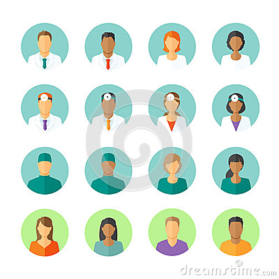 Free Avatars Of Doctors And Patients For Medical Forum Royalty Free Stock Images - 53301579