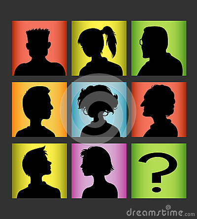Avatars people silhouette