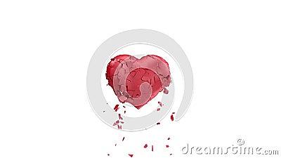 avbrott av hjärta stock video