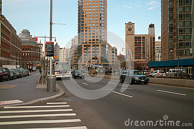 Avenida de Flatbush, Brooklyn New York Fotografia Editorial