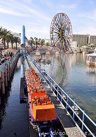 Aventura de Disney California Imagen de archivo editorial