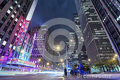 Avenue of the Americas Editorial Image
