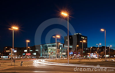 Avenue Mall, shopping mall in Zagreb, Croatia Editorial Stock Image