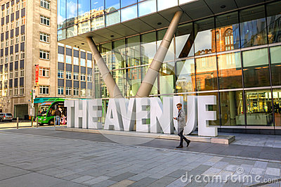 The Avenue Quarter in Manchester, UK. Editorial Photo