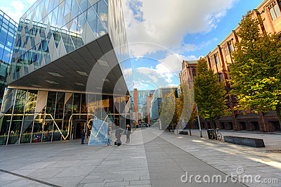 The Avenue Quarter in Manchester, UK. Editorial Image