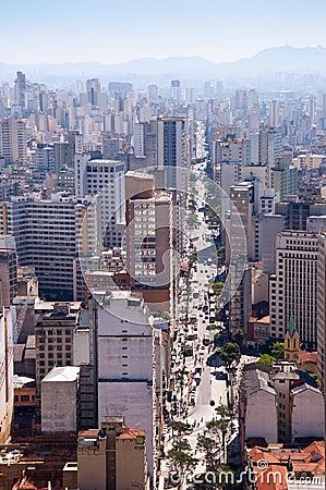 Avenue sao joao in sao paulo city