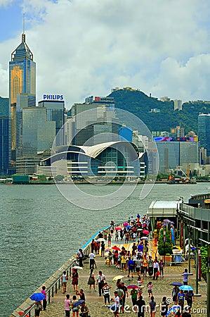 Avenue of stars, hong kong Editorial Photo