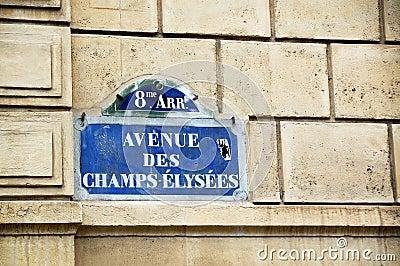 Avenydes tuggar ljudligt Élysées