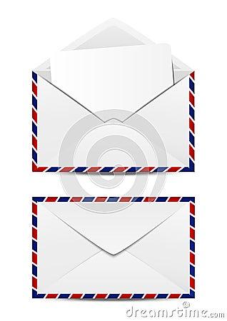 Free Avia Post Mails Royalty Free Stock Photo - 34006925