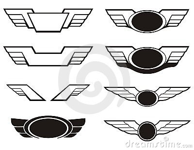 Aviation insignia wings set