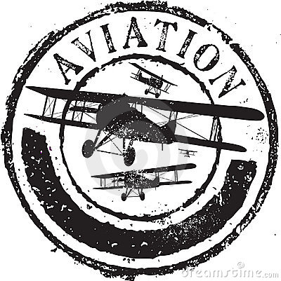 Free Aviation Stamp Royalty Free Stock Photo - 8805575