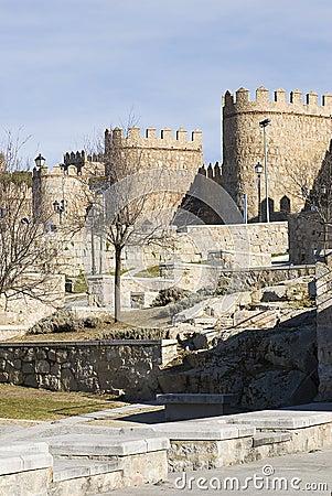 Avila walls in the bridge area.