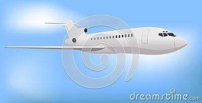 Avion à réaction commercial privé
