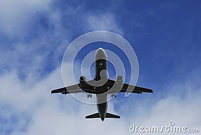Avion à réaction inférieur de vol