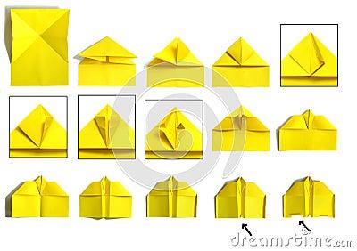 Avion de papier photographie stock libre de droits image - Comment faire un porte avion en papier ...