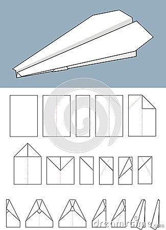 avion de papier origami photo libre de droits image 17623685. Black Bedroom Furniture Sets. Home Design Ideas