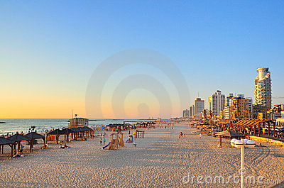 Aviv plażowy Israel tel Zdjęcie Editorial