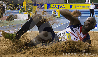 Aviva Indoor UK Trials and Championships Editorial Stock Image